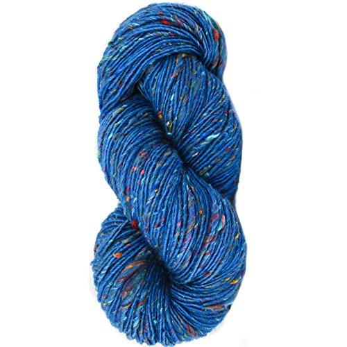 Living Dreams Yarn BOLLYWOOL DK. Super Soft Merino Blended with Sari Silk. Colorful Lopi Art Yarn with Boho Flair for Knitting & Crochet. Homespun in The USA. (Silk Tweed Yarn)