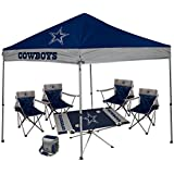 NFL Hall of Fame Tailgate Bundle - (1 9X9 Canopy 4 Kickoff Chairs  sc 1 st  Amazon.com & Amazon.com: NFL - Canopies / Patio Lawn u0026 Garden: Sports u0026 Outdoors