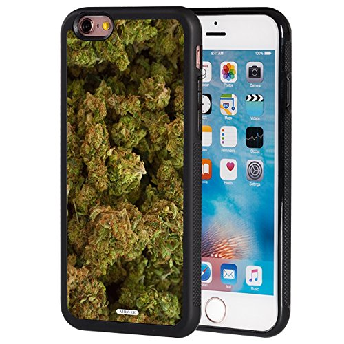 iPhone 6 Plus/6S Plus Case,AIRWEE Slim Anti-Scratch Shockproof Silicone TPU Back Protective Cover Case for Apple iPhone 6 Plus & 6s Plus 5.5 Inch,Marijuana Kush Weed (6 Cases Phone For Weed I)