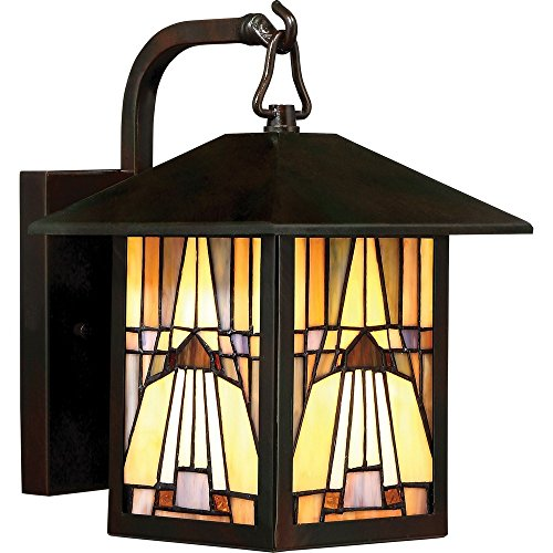 "Quoizel TFIK8407VA Inglenook Mission Outdoor Wall Sconce, 1-Light, 100 Watts, Valiant Bronze (11"" H x 7"" W)"