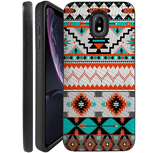 (CasesOnDeck Case for Samsung Galaxy J7 2018/ J7 Crown/ J7 Refine/ J7 Top/ J7 Star/ J7 Aero - Combat Bump and Drop Dual Layer Slim Defender Cover (Western Pattern))