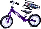VILOBYC 12'' Anodised Aluminium Alloy Kids Push Ultralight Balance Bike (4.3 lbs) Child 18 Month to 5 Years Old Bicycle