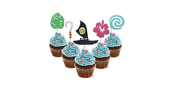 30 piezas de adornos para cupcakes inspirados en Moana para ...