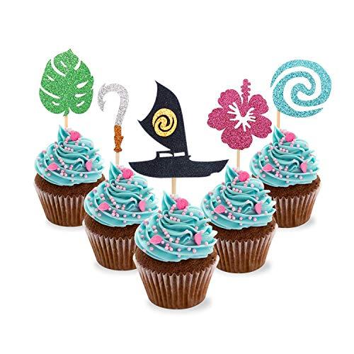 Set Of 12 Moana Cupcake Topper Rings moana And Maui Terrific Value