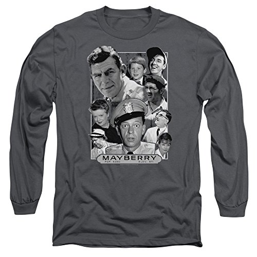 Andy Griffith Mayberry Unisex Adult Long-Sleeve T Shirt for Men and Women Charcoal