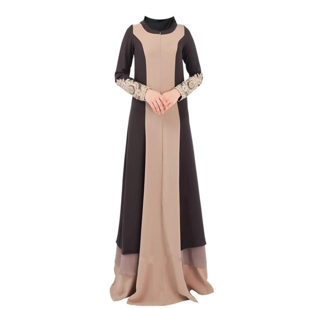 NPRADLA Large Falda Mujeres Vintage Abaya Vestido Largo Maxi ...