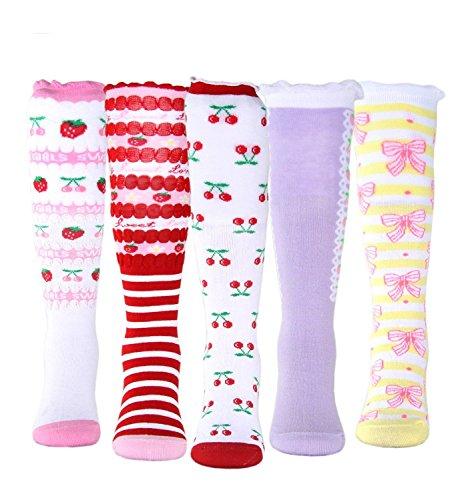 Girls' Socks Knee High Stockings Cotton Warm Princess Boot Socks,10 Pairs (7~10 Years) by MarJunSep (Image #1)