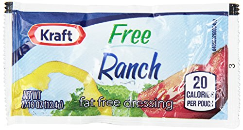 Kraft Fat Free Ranch Dressing, 16 oz. pack, Pack of 200