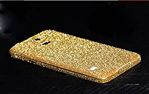 Bling Glitter Vinyl Decal Fashion Protective Film Screen Protector Full Body Skin Sticker for Samsung Galaxy S5 I9600 Sv (Gold)