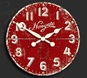 newgate clocks ice cream factory wall clock red