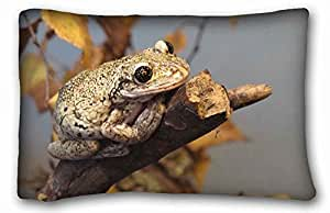 Generic Personalized Animal Custom Cotton & Polyester Soft Rectangle Pillow Case Cover 20x30 inches (One Side) suitable for Twin-bed
