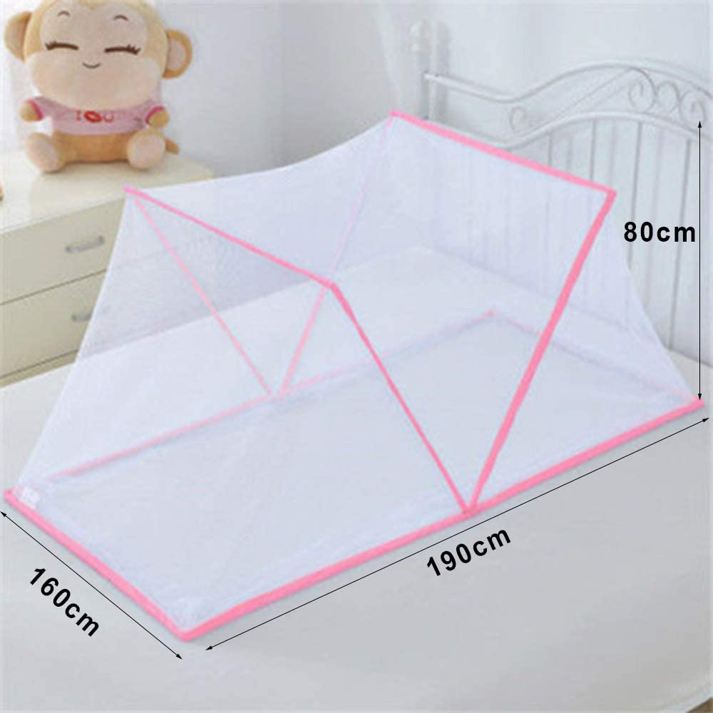 Foldable Mosquito Net for Bed,Free Installation,Portable,Fine Mesh,Suitable for Bedroom Outdoor Camping Adult Kids Blue-125/×68/×50