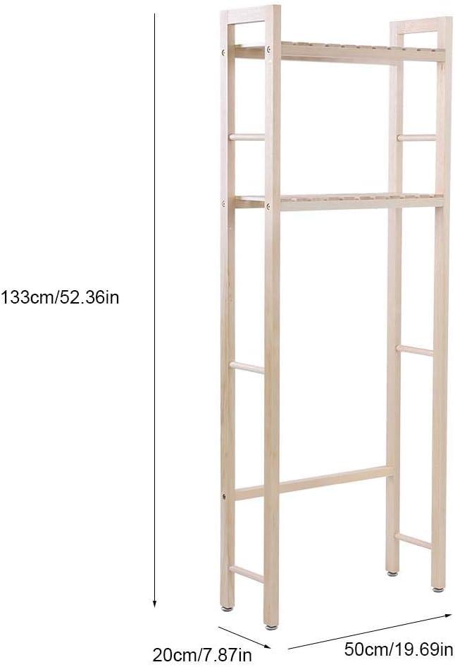 Gototop Estanter/ía para ba/ño madera, 2 estantes