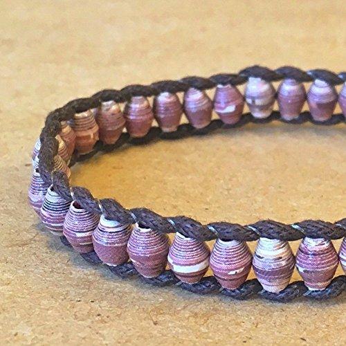Paper Bead Unisex Single Wrap Bracelet - Earthtone - Fair Trade BeadforLife Jewelry from Africa ()