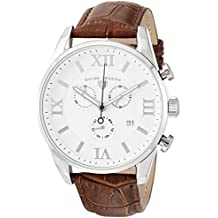 Swiss Legend Men's 'Bellezza' Swiss Quartz Stainless Steel and Leather Casual Watch, Color:Brown (Model: 22011-02-BRN)