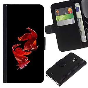 iBinBang / Flip Funda de Cuero Case Cover - Pesce Nero Pet tropicale - Samsung Galaxy S4 Mini i9190 MINI VERSION!