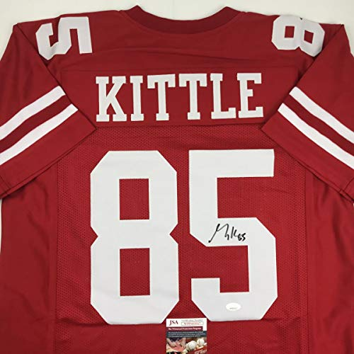 Autographed/Signed George Kittle San Francisco Red Football Jersey JSA COA