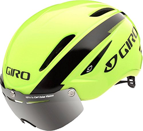 - Giro Air Attack Shield Road Helmet - Closeout - HIVIZ YELLOW/BLACK, LARGE