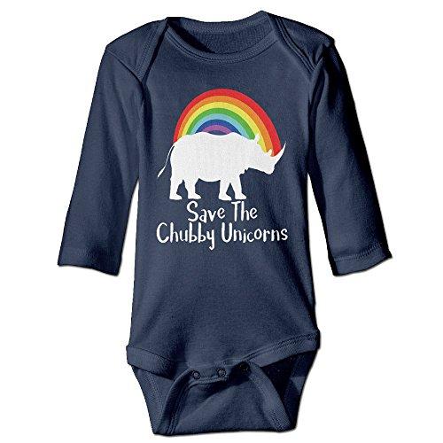 Rainbow Save Chubby Unicorn Newborn Toddler Baby Romper Jumpsuit Coveralls 6-24M