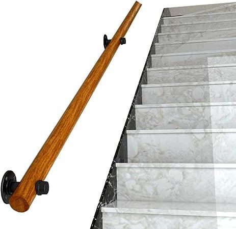 Antideslizante Pasamanos de Escalera 丨 Barandas para Ancianos Pasamanos Varilla de Soporte del Pasillo Floor Pasamanos de Piso montado en la Pared Seguridad Pasamanos de Madera Antideslizantes para: Amazon.es: Hogar