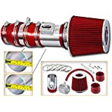 """3.5/"""" Short Ram Cold Air Intake Filter Round//Cone Universal RED For Hyundai"""