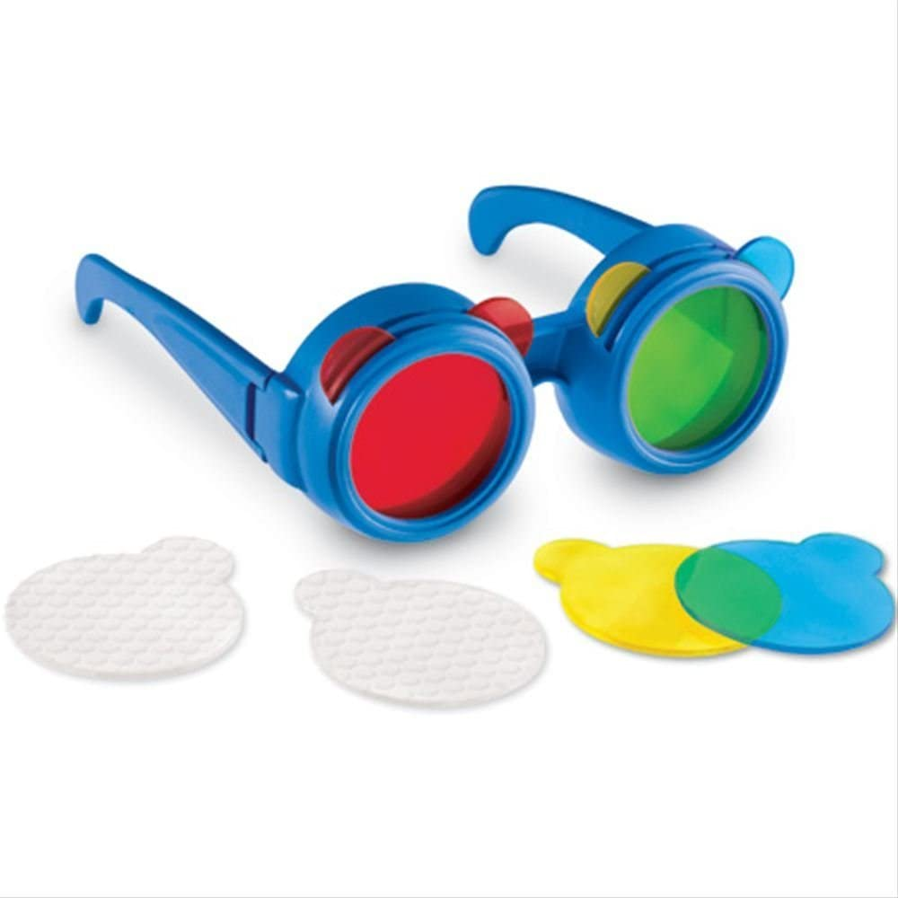 Learning Resources- Gafas con Lentes Intercambiables de Colores (LER2446)