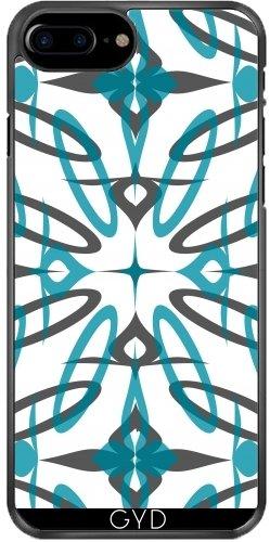 Funda de silicona para Iphone 7/7S Plus - Formas Bastante Azules by Yasmina Baggili Plástico rígido