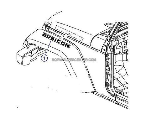 Amazon Com Jeep Wrangler Rubicon Emblem Badge Decal Oem Mopar