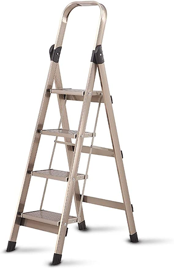 Escaleras Escalera plegable de lujo de aleación de aluminio portátil, Escalera de extensión, Taburete con peldaños, Escalera telescópica, Escalera de tijera, Peso ligero, Sostiene hasta 150 kg: Amazon.es: Bricolaje y herramientas