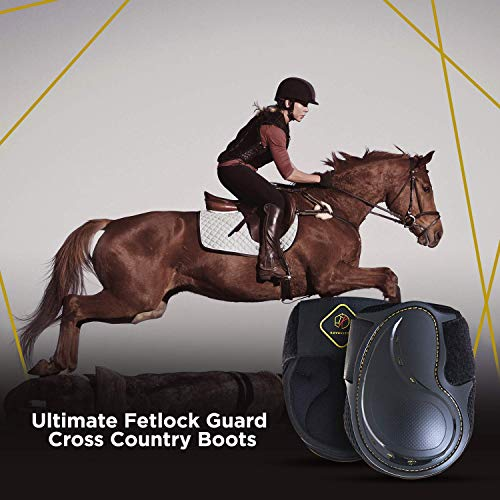 Kavallerie Classic Fetlock Boots, Impact-Absorbing and Air-Perforated Material, Durable & Evenly Distributes Pressure, Fetlock Injury Protection, Non- Slip with Soft Lining Show Jumping Boots by Kavallerie (Image #3)
