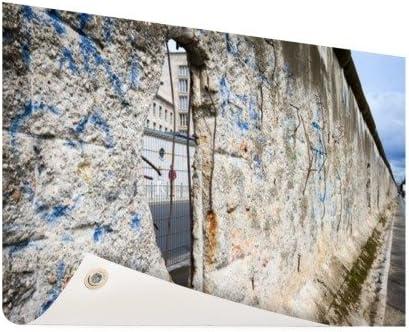 Muro de Berlín con agujero – Foto en jardín Póster – X cm (formatos disponibles: 60 x 40, 120 x 80, 200 x 100) Top de calidad Jardín Banner.: Amazon.es: Jardín