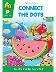School Zone - Connect the Dots Workbook - Ages 3 to 5, Preschool to Kindergarten, Dot-to-Dots, Counting, Number Puzzles, Numbers 1-10, Coloring, and More (School Zone Get Ready!™ Book Series)