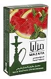 Mazaya Shisha Molasses Premium Flavors 50g For Hookah NonTobacco (Watermelon With Mint)