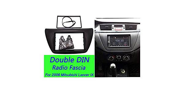 Center AC Control Fascia For Mitsubishi Lancer IX 2006 2 Din Stereo Dash Kit