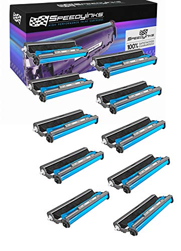 Ribbon Cartridge Film Transfer Fax - Speedy Inks Compatiible Fax Cartridge Replacement with Roll for Brother PC501 (10-Pack)