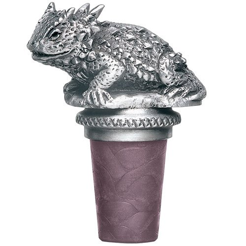 Heritage Pewter Horney Toad Bottle Stopper from Heritage Pewter