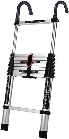 Escalera extensible/ Escalera telescópica Escalera telescópica de aluminio de 3.8 m / 12.5 pies con ganchos, escaleras de extensión para uso doméstico diario de emergencia o industrial, carga de 150 k: Amazon.es: Hogar