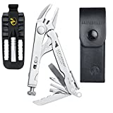 Leatherman Crunch Stainless Steel Multi-Tool With Sheath + Removable Bit Driver (Leather Sheath)