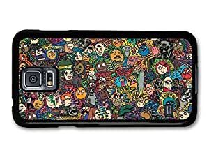 AMAF ? Accessories Meme Collage Coloured Faces Emoji Stickerbomb case for Samsung Galaxy S5