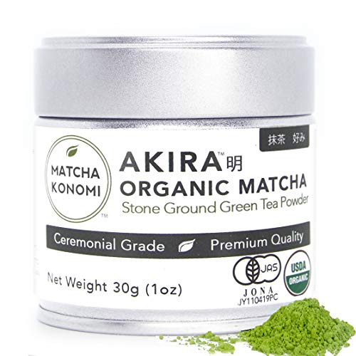 Akira Matcha - Organic Premium Ceremonial Japanese Matcha Green Tea Powder - First Harvest, Radiation Free, No Additives, Zero Sugar - USDA and JAS Certified