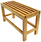 ALFI brand  AB4401 26-Inch Solid Wood Slated Single Person Sitting Bench