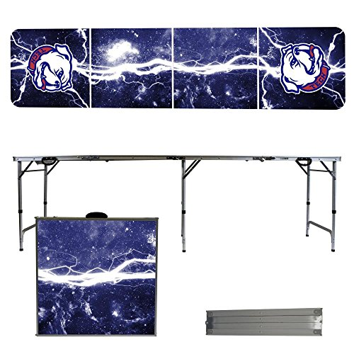 Louisiana Tech University Bulldogs 8 Foot Portable Folding Tailgate Table Lightning (Tech Tailgate Pong Table)