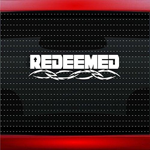 Noizy Graphics Redeemed - Cross Christian Car Sticker Truck Window Vinyl Decal Color: Green