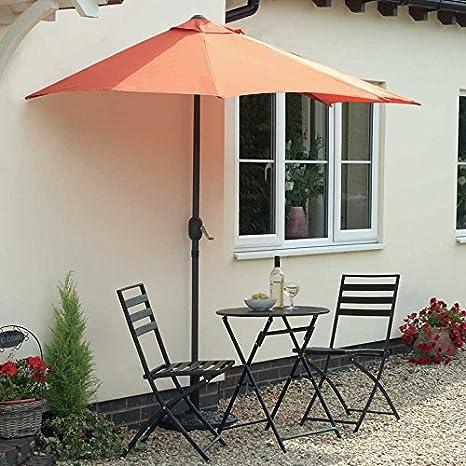 Moitie Parasol Et Base Ideal Pour Balcon Cour Patio Ou Petit Jardin