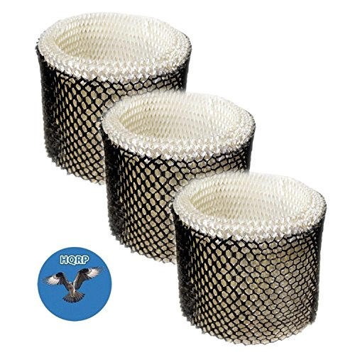 HQRP 3-pack Filter for Walgreens 890-WGN 890WGN Cool Mist Humidifier, W889-WGN Replacement + HQRP Coaster (Wet Humidifier Filter)