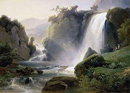 Posterazzi Tivoli Waterfall Poster Print by Jean Charles Joseph Redmond, (20 x 28)