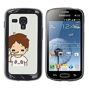 Be Good Phone Accessory // Dura Cáscara cubierta Protectora Caso Carcasa Funda de Protección para Samsung Galaxy S Duos S7562 // Kid Mom Mother Sweet Baby