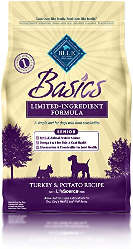 Blue Buffalo Basics Limited Ingredient Diet, Natural Senior Dry Dog Food, Turkey & Potato 4-lb