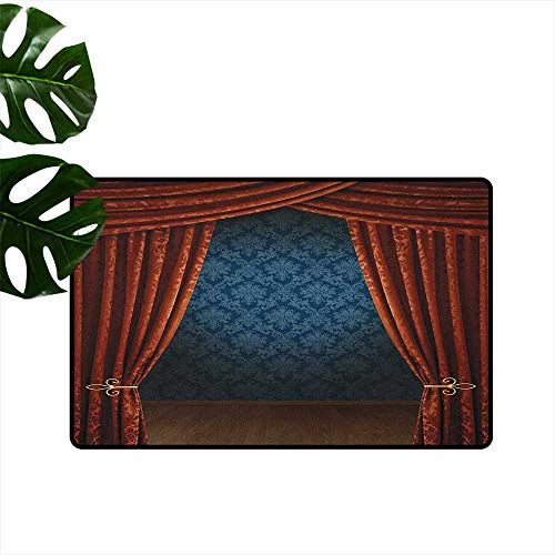 Victorian,Floor Mats Grand Opening Showroom with Retro Pattern Wall Classic Stage Theatrical 18
