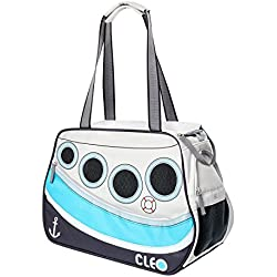 "Cleo By Teafco Petoboat Airline Approved (19""Medium) Pet Carrier - Ocean Blue/Gray"